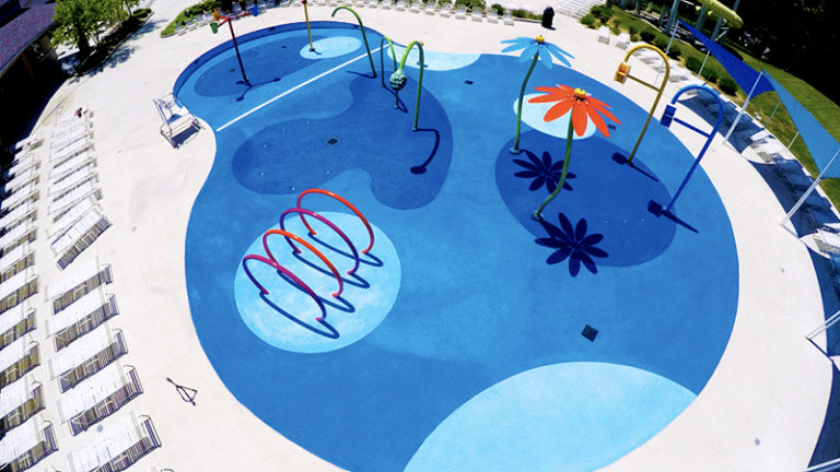 deck armor coating at a waterpark
