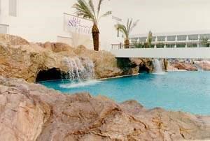 Rock Fountain in Pool